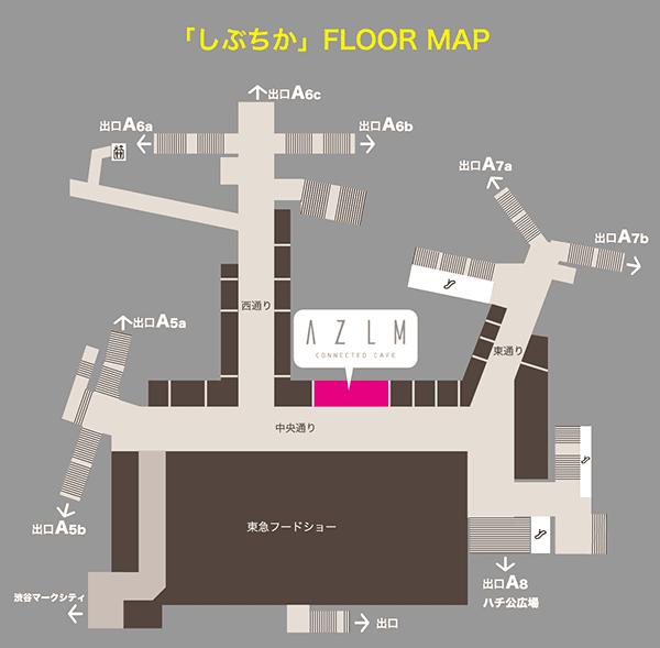 「しぶちか」FLOOR MAP